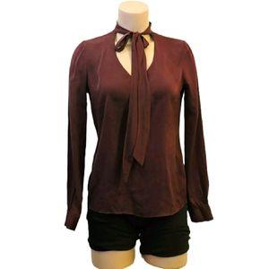 Elie Tahari Silk tie neck blouse size Xsmall